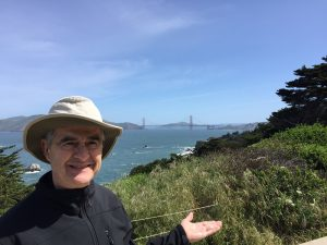 Joseph Davis with the Golden Gate Bridge